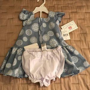 NWT Marmellata dress & diaper cover 18 months